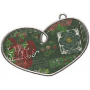 Strawberry Fields- Heart Doodle Charm 06