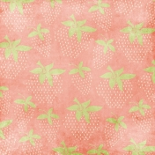 Strawberry Fields- Large Strawberry Paper- Pink