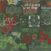Strawberry Fields- Green Chalkboard Paper