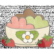 Strawberry Fields- Ice Cream Doodle Charm