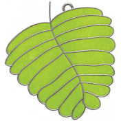Strawberry Fields- Leaf Doodle Charm 01