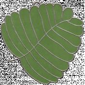 Strawberry Fields- Leaf Doodle Charm 03