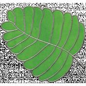 Strawberry Fields- Leaf Doodle Charm 04
