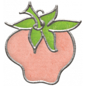 Strawberry Fields- Light Pink Strawberry Doodle Charm