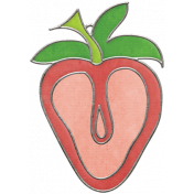Strawberry Fields- Strawberry Doodle Charm 02