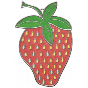 Strawberry Fields- Strawberry Doodle Charm 03