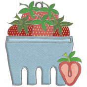 Strawberry Fields- Strawberry Doodle Charm 04