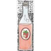 Strawberry Fields- Strawberry Soda Doodle Charm