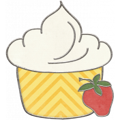 Strawberry Fields- Cupcake Doodle
