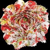 Strawberry Fields- Fabric Flower