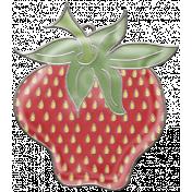 Strawberry Fields- Glossy Strawberry Charm 2