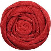 Strawberry Fields- Red Fabric Flower