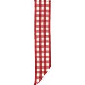Strawberry Fields- Red Gingham Ribbon