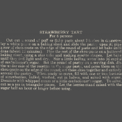 Strawberry Fields- Chalk Recipe Stamp 02