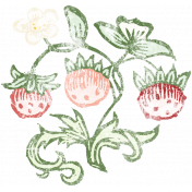 Strawberry Fields- Chalk Strawberry Stamp 03