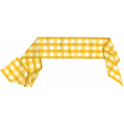 Strawberry Fields- Yellow Gingham Ribbon