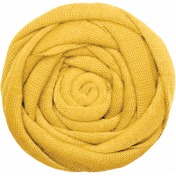 Strawberry Fields- Yellow Fabric Flower