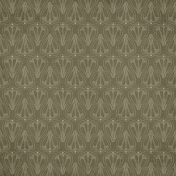 Autumn Day- Olive Green Ornamental Paper