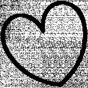 Heart Doodle Template 020