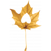 Thankfull Heart- Leaf- Yellow 1