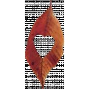 Thankful Heart- Leaf- Red #4