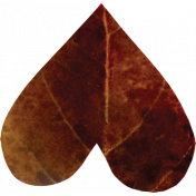 Falling For You- Brown Leaf Heart 1