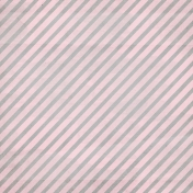 Christmas Day- Pink Stripe Paper
