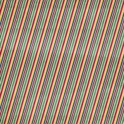 Christmas Day- Rainbow Stripes Paper