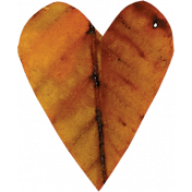Falling For You- Brown Heart Leaf 3