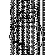 Bear Doodle Template 002