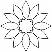 Flower Doodle Template 037