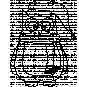 Owl Doodle Template 001