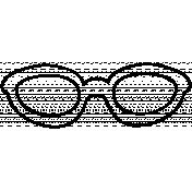 Sunglasses Doodle Template 002