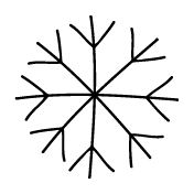 Snowflake Doodle Template 015