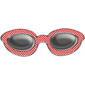 Let's Get Festive- Red Dot Doodle Sunglasses