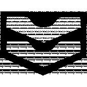 Arrow Doodle Shape Mask Template 016