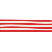 Let's Get Festive- Red and White Striped Ribbon
