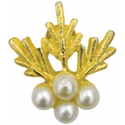 Let's Get Festive- Gold and Pearl Brooch