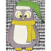 Let's Get Festive- Gray Owl Doodle 2