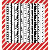 Let's Get Festive- Red Striped Frame