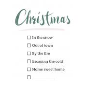 Winter Christmas Check List 3x4 Pocket Card