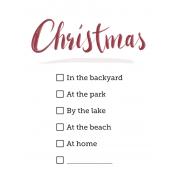 Summer Christmas Check List 3x4 Pocket Card