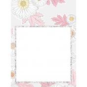 Fairy Floss Floral Pocket Card 3x4 journal