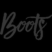 Boots Word Art