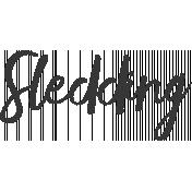 Sledding Word Art