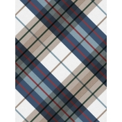 Winter Day Card 06 Plaid
