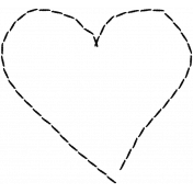 Heart Day Black Heart Stitches