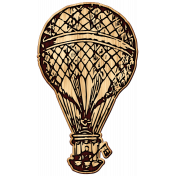 Heart Day Hot Air Balloon Wood