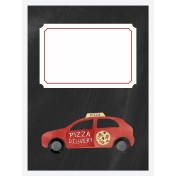 Pizza Delivery Car 3x4 Card