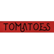 Tomatoes Word Strip